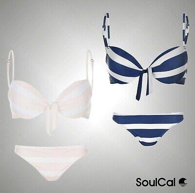 Ladies SoulCal Stretchy Triangle Bikini Top Or Bottoms Swimwear Size 8-18