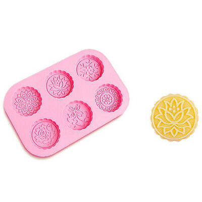 Soap Mold  6-Flowers Flower Silicone Mould For Candy Chocolate Cake Mold