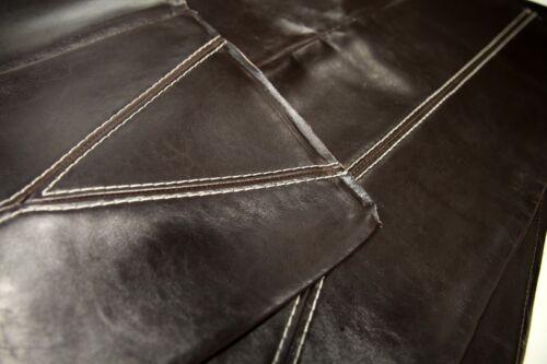Leather Scraps Arts and Crafts d/'environ 1 mètres carrés au total marron foncé
