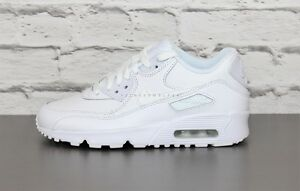 Scarpe NUOVO Nike Air Max 90 Ltr Gs da ginnastica Donna Pelle 833412100 Bianco