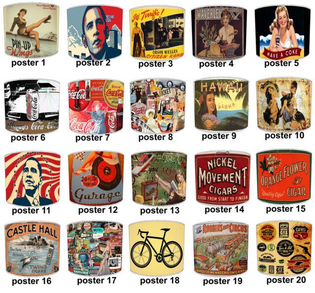 Abat-jour Qui Convient Vintage Rétro Posters & Étiquettes & Autocollants Murales