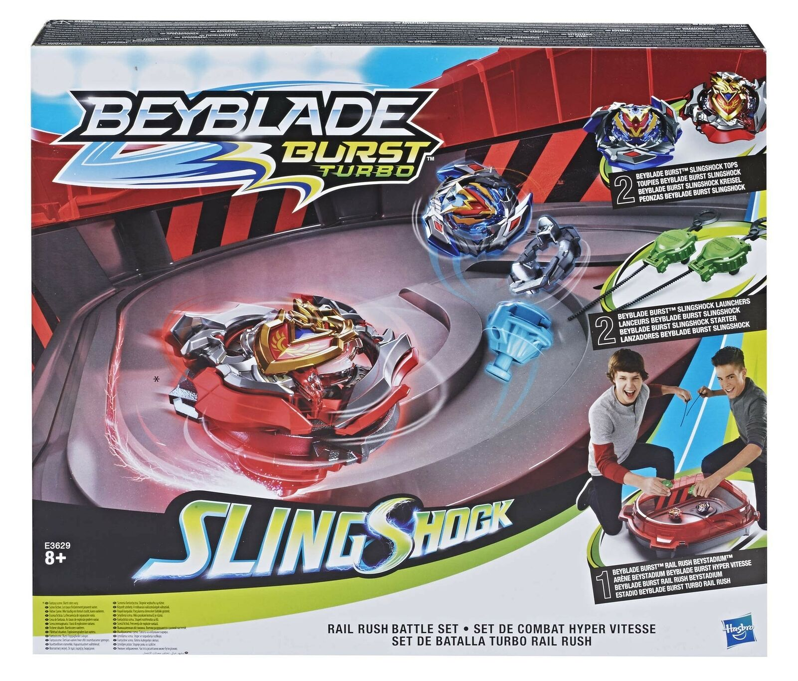 Beyblade BEY BLADE E3629EU5 Rail Rush Battle Figure Set, Multi-Colour