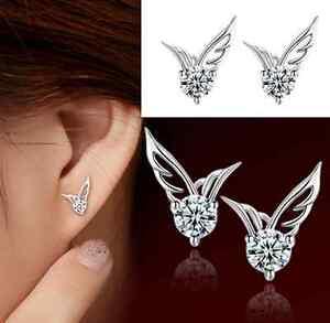 1-pair-Silver-Angel-Wings-Ear-Stud-Earrings-Crystal-rhinestone-Jewelry-hs