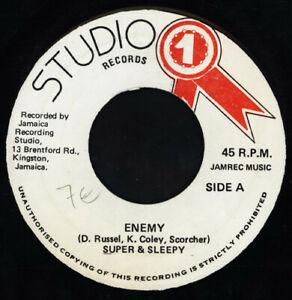 Super-amp-Sleepy-Enemy-Vinile-17-8cm-Singolo-Giamaicano-Premere-Studio-One
