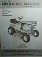 Yard- Man 3250 Lawn Tractor, Snow Blower & Blade Owner & Parts Manual (3 Books)
