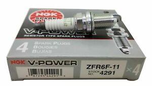 4291 4-New NGK V-Power Copper Spark Plugs ZFR 6 F 11