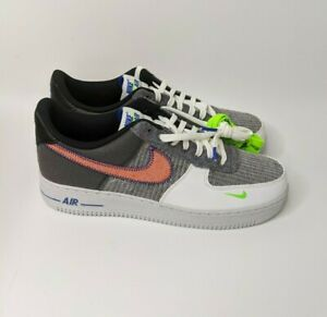 Details about Nike Air Force 1 '07 Low White Sport Red Grey Shoes CU5625-122 New Men's Sz 12