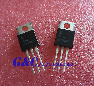 10pcs HFP7N80 7N80 FQP7N80 SeniHow 7A 800V  N-Channel MOSFET TO-220 NEW T36