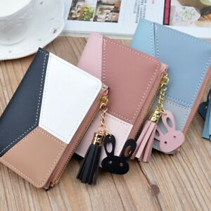 Women/'s Short Small Money Purses Wallet Ladies Leather Folding Coin Card Holder