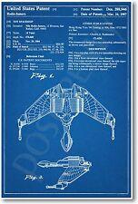 Star Trek - Klingon Ship Patent - NEW Invention Patent Movie Art POSTER