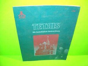 Atari-TETRIS-Original-1987-Video-Arcade-Game-Kit-Service-Repair-Manual-FAIR
