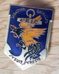 Insigne-4e-RIC-regiment-infanterie-coloniale-militaire-troupes-de-marine-TDM-coq
