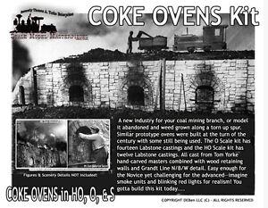 Railroad-Coke-Ovens-Kit-Scale-Model-Masterpieces-YORKE-HO-HOn3-HOn30-1-87
