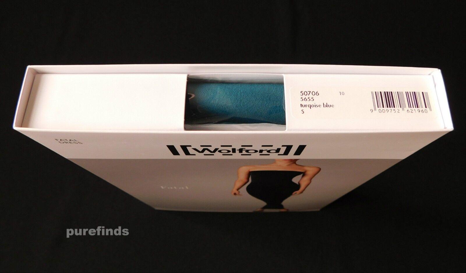 Abito WOLFORD FATALE 50706, Turqoise blu, taglia Small, USA USA USA 8 NUOVO IN SCATOLA dce642