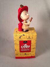 Vintage - Hallmark Peanuts Gallery - Ceramic Linus In Fireman Outfit - NEW