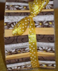 Quilting Fabric Honey Bun 20~1.5  Fabric Strips Brown Yellow Off ... : honey bun quilting strips - Adamdwight.com