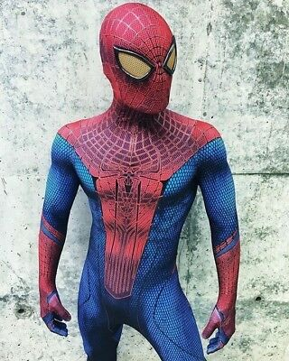 The Amazing Spider-Man Cosplay Costumes Jumpsuit Halloween Outfit  Men Tights