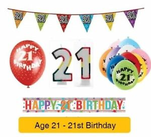 AGE-21-Happy-21st-Birthday-Party-Banners-Balloons-amp-Decorations
