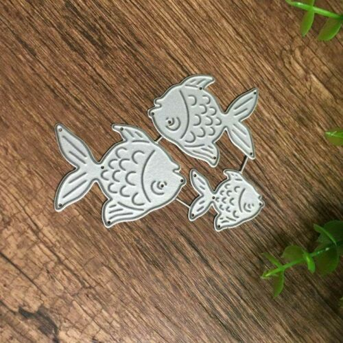 Metal Fish Cutting Dies Stencil Album DIY Card Embossing Making Craft Decor