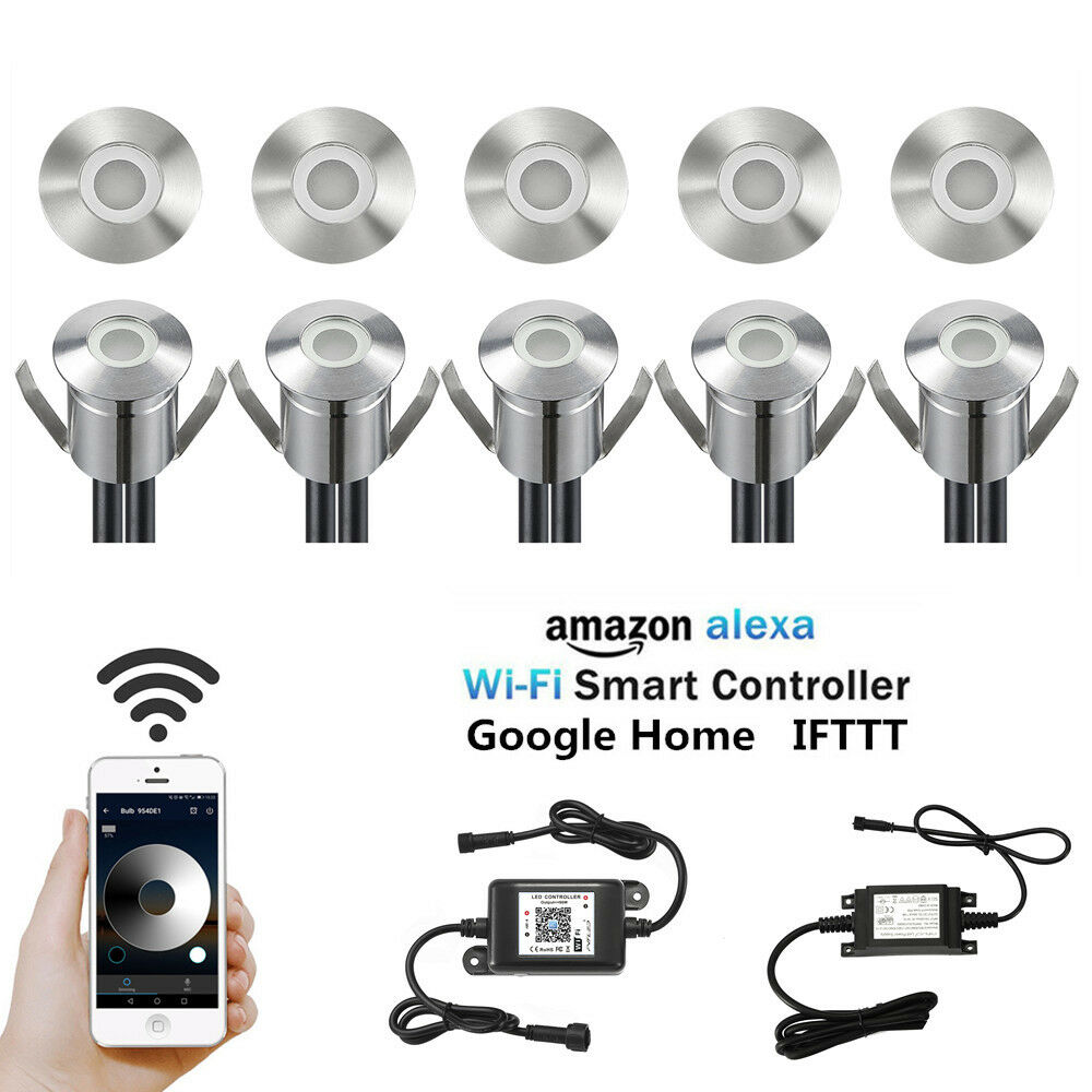 Temporizador de regulador de Control de WiFi 10X 22mm 12V LED de luces de Terraza Patio Cubierta escalones