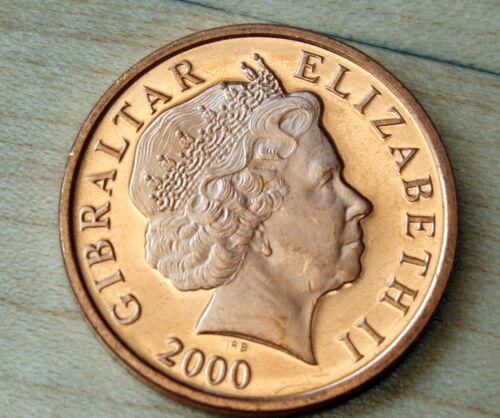 2000 Gibraltar 2 Pence Lighthouse Unc.