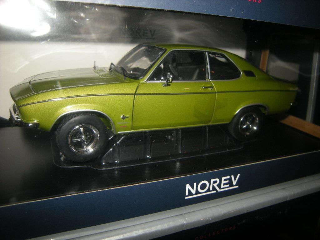 1 18 Norev Opel Manta 1975 lemonvert VERT Nº 183635 in neuf dans sa boîte