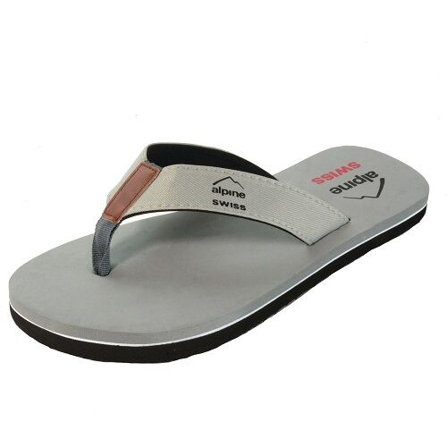 NEW SIMPLE GRAY 13 THONG FLIP FLOP SIZE 13 GRAY BY ALPINE SWISS---351 d1ea20