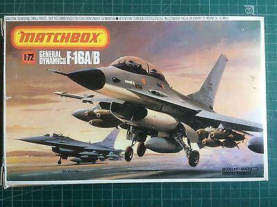 MATCHBOX  GENERAL DYNAMICS F-16A/B FIGHTING FALCON. 1.72 SCALE MODEL KIT