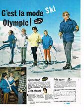 PUBLICITE ADVERTISING 014    1962   OLYMPIC  vetements de ski