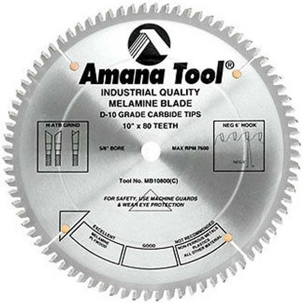 Amana melamine saw blade mb10800 lightly 10 with 80 teeth ebay amana double face melamine laminate saw blade mb10800 greentooth Gallery