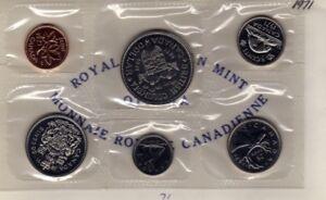 1971-Canada-PL-Set-6-Coins-Cent-to-1-MINT-UNC
