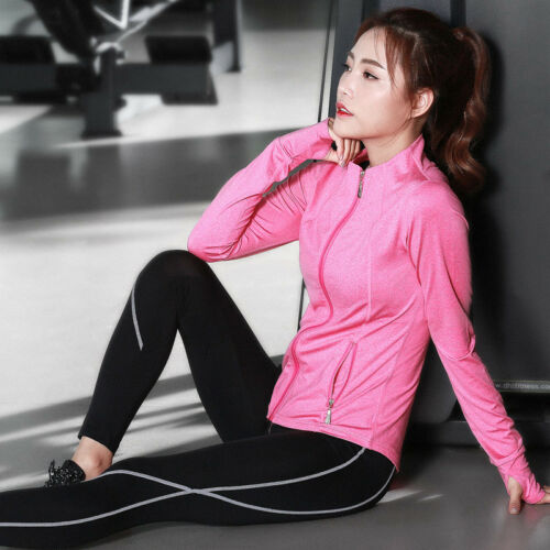 Autumn Women/'s Running Sports Fitness Suits Yoga Clothing Three-piece Y719