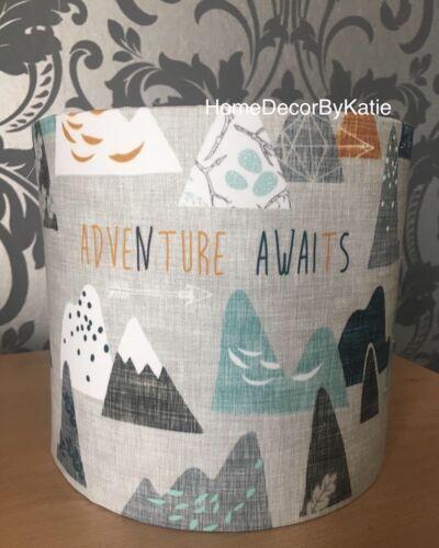 Handmade Mountain Lampshade mountains adventure Lightshade Nursery