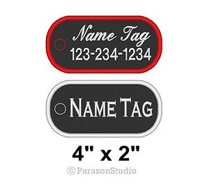 Details about Custom Embroidered Name or Title Dog Tag Patch Biker Outlaw  MC Vest Club 4