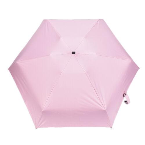 Mini 5Folding Compact Supers Windproof Anti-UV Rain Sun Travel Umbrella Porta  S