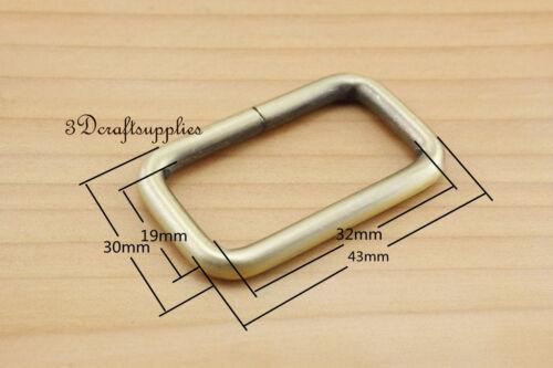 Rectangle Rings webbing Belt buckle anti brass 32 mm 1 1//4 inch 10pcs U66
