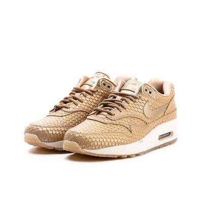 Wmns Nike Air Max 1 PRM UK 4 EUR 37.5 Blur LT Orewood Brown 454746 900 | eBay