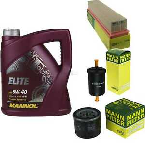 Motor-Ol-5L-MANNOL-Elite-5W-40-MANN-FILTER-Filterpaket-Dacia-Logan-LS-1-2-16V