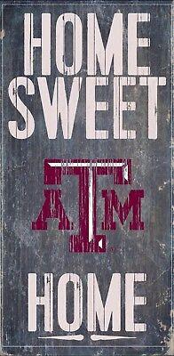NCAA Texas Longhorns 6 x 12 Home Sweet Home Wood Sign