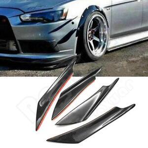 Carbon-Fiber-Trim-Front-Bumper-Canards-Splitters-Body-Spoiler-For-Lancer-EVO-X