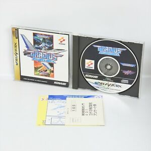 GRADIUS DELUXE PACK with Paper Craft Sega Saturn 246 ss