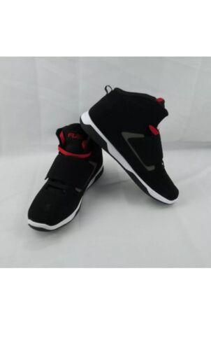 Fubu Men Strap 2 High Top Sneaker Black Red Gray Size 10 1//2 Shoe Bas NWT