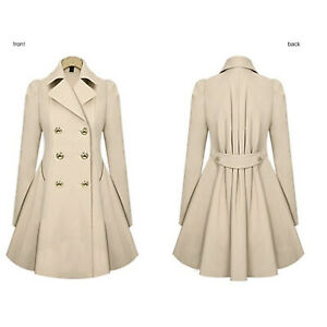 Fashion-Women-Trench-Coat-Casual-Double-breasted-Jacket-Work-Blazer-Suit-Outwear