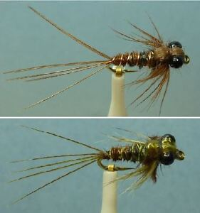 ~ Choose Hook Sizes ~ 36 Artflies Pheasant Tail and Bead Thorax Nymph Flies