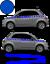 Fiat-500-Autocollant-Bandes-Stickers-adhesifs-decoration-couleur-au-choix miniatura 3