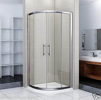 Viertelkreis Dusche Echtglas Duschabtrennung Duschkabine Runddusche Duschwanne D