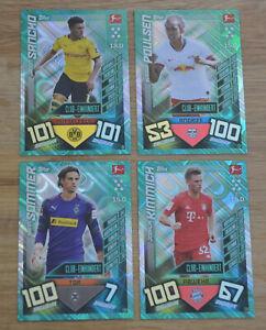 Topps-Match-Attax-19-20-alle-4-Club-Einhundert-Karten-komplett-Set-2019-2020