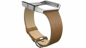 Fitbit-Blaze-Slim-Leather-Accessory-Band-amp-Frame-Camel-Brown-Large-Small