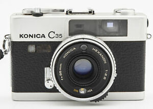 Konica-C35-C-35-C-35-Sucherkamera-Kamera-mit-Hexanon-38mm-1-2-8-Optik