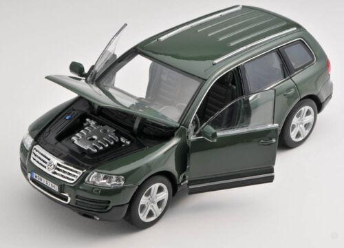 BLITZ VERSAND Volkswagen VW Touareg grün green Welly Modell Auto 1:24 NEU OVP